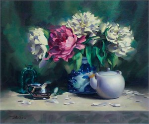 Peonies and Teapot