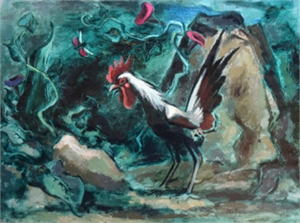 Rooster and Grasshopper, 1945