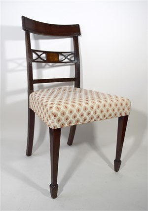 SET OF EIGHT MAHOGANY DINING CHAIRS, English, 19th century