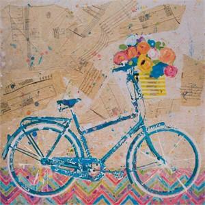 Blue Fat Tire by Christy Kinard