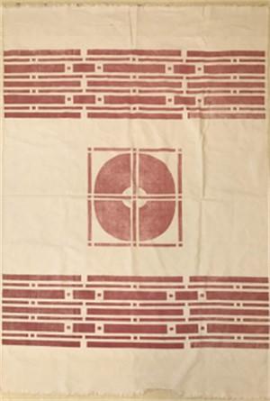 Red Geometric Linen
