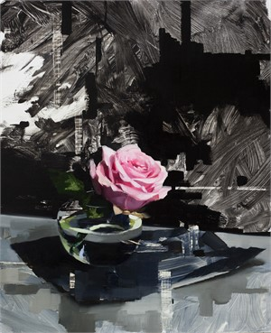 Pink Rose and Black, 2018