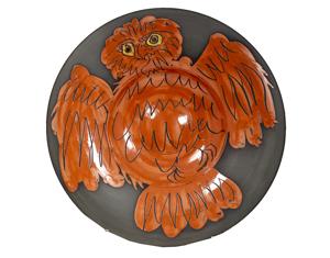 Hibou rouge sur fond noir (Red Owl on Black Ground) Alain Ramié-Madoura no. 399 (61/150), 1957