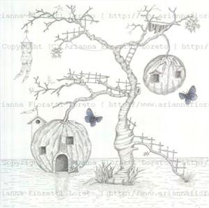 Pumpkin Treehouse with Butterflies, 2012