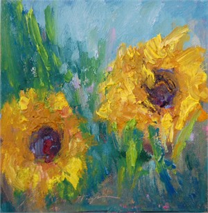 August Sunflowers I