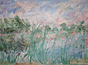 Pink Flowers, Saugeen River, 2018