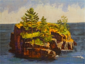 A Small Island on a Large Sea by Larry Welo