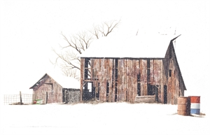 Barn in Snow (2/1)