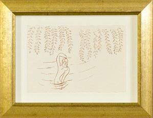 Nude Bather Under Willow Tree (from Florilege des Amours de Ronsard Portfolio), 2007
