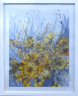 Yellow Bouquet in Ultramarine, 2020