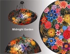 "Display Midnight Garden Blue 32"" - S"