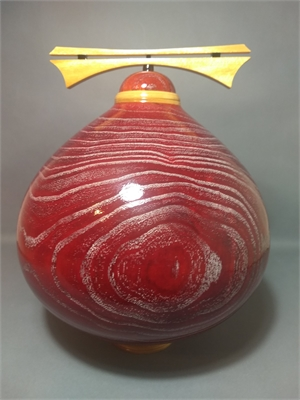 Red Tinted Chinaberry Vessel, 2019