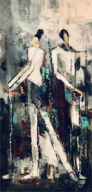 GOLFING COUPLE I by LIA KIM