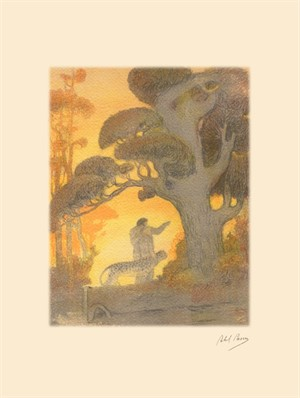 The Garden of Eden from the Genesis Portfolio, c.1920's