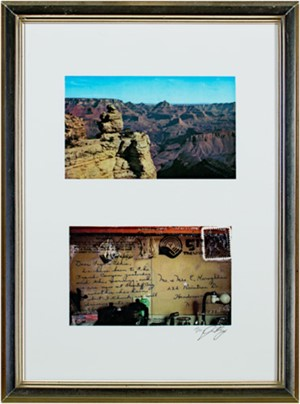 Grand Canyon after original postcard (front&back), 2009