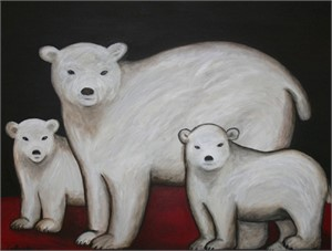 Polar Bears - SOLD available for commission