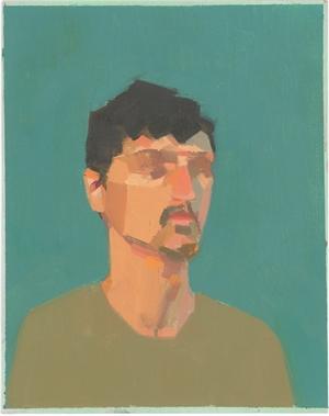 Man in Green Shirt by Christina Renfer Vogel