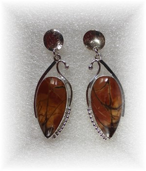 Cherry Creak Jasper Earrings, 5/1/18