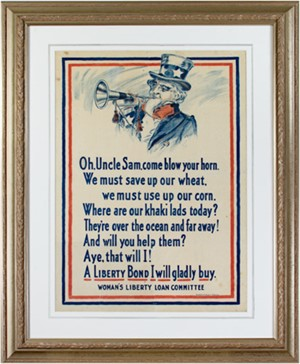 World War I Poster - Uncle Sam, c 1917