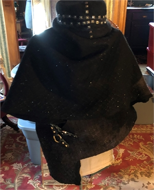 "Black Wrap Jacket with Leather Buckles  ""S/M"""