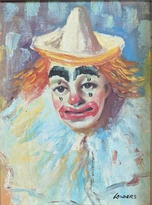 Portrait of a Clown, 20th C