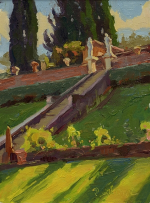 Garden Steps in Florence by Scott Burdick