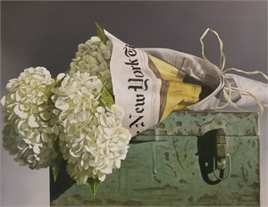 White Hydrangea in NY Times by Loren DiBenedetto, OPA