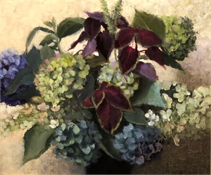 October Hydrangeas by Judith Pond Kudlow