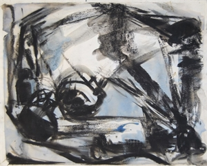 Sumi Ink Still Life With Blue, 1979