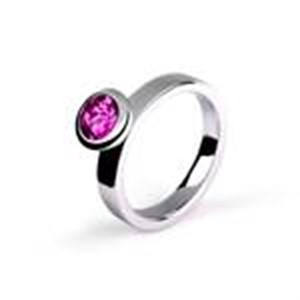 Ring-Stackable Sterling Silver with Amethyst/size 7