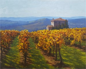 Autumn Vines Tuscany