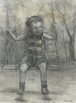 Walker on Grandmother's Swing