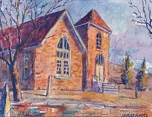 Old Stone Church, Maple Hill, KS by Shirley Akers