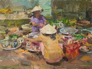 Fish Seller by Quang Ho