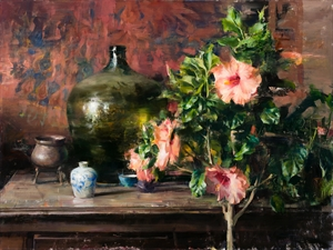 Arrangement with Hibiscus by Quang Ho