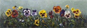 Pansies In A Row