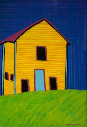 Yellow House: Blue Door, Purple Roof