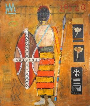 Tribal Warrior Wearing Air Jordams, 2020