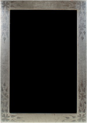 12K WHITE GOLD LEAF HANDMADE PHOTO FRAME 4X6 (Vertical -or- Horizontal), 2011