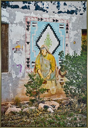 Route 66 Series- Abandoned Trading Post (Mural) Near Grants, NM by Thomas Ferderbar