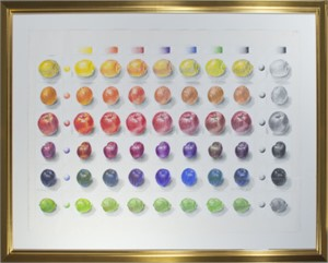 Six Fruits in Colored Pencil, 2013