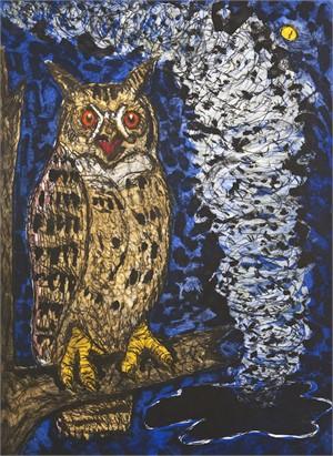 Horned Owl (1/24), 2014-15