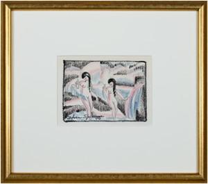 Two Art Deco Nude Dancers #763, c. 1940's-1950's