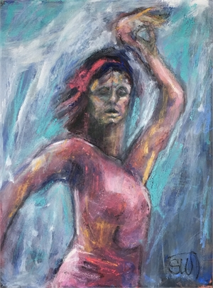 Dancer in Red, 2017