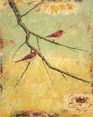 Purple Finches #8 by Paul Brigham