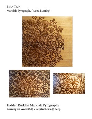 Hidden Buddha Mandala Pyrography