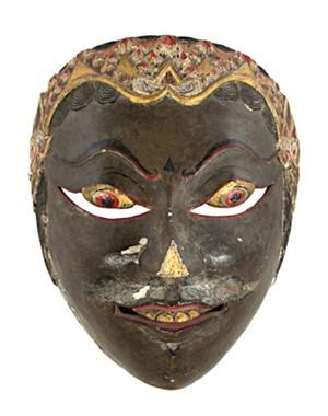 Mask, black face, 19th c