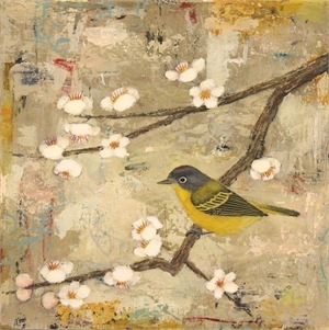 Nashville Warbler with Blossoms