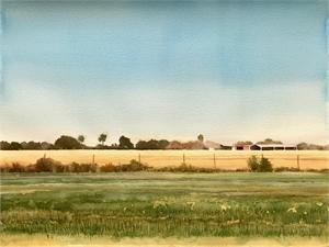 Chambers County Rice Field, Fall, 2019