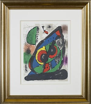 "Lithographie Originale I from ""Miro Lithographs IV, Maeght Publisher"", 1981"